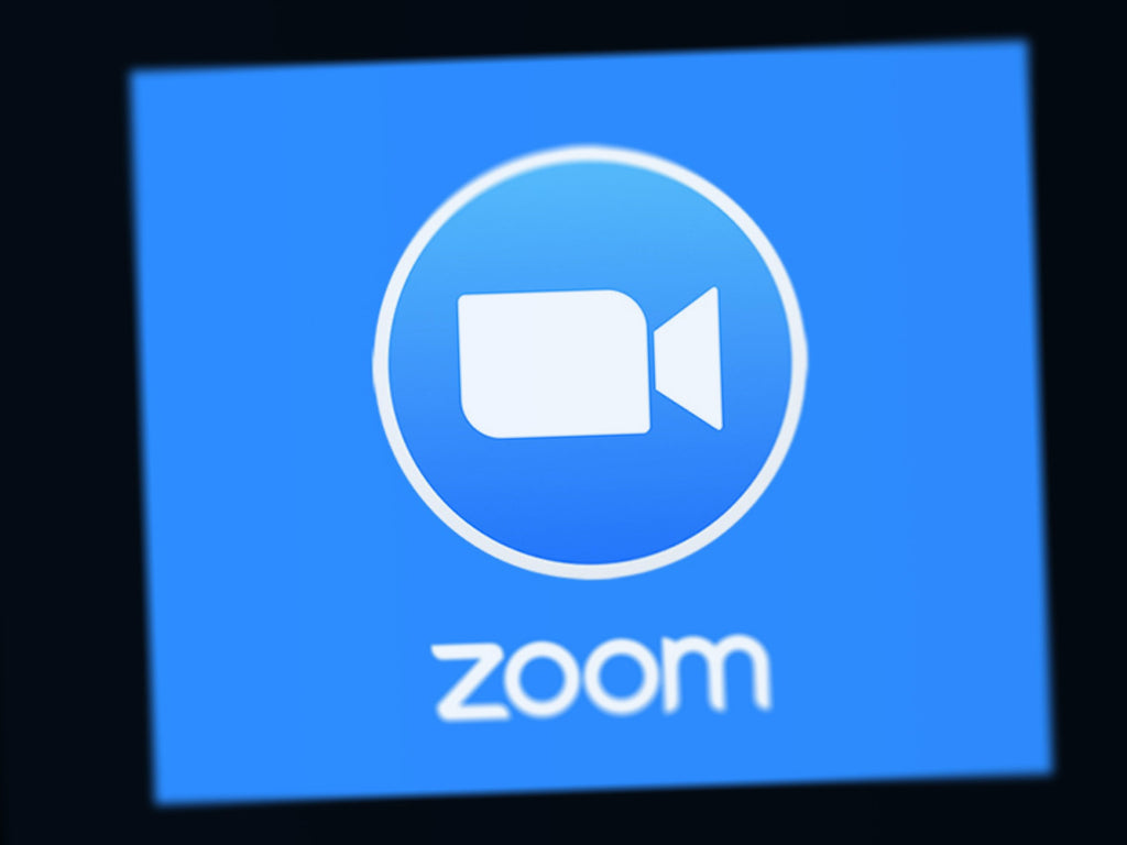 zoom logo blurred screen image