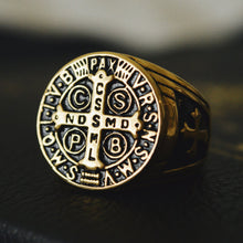 Load image into Gallery viewer, St. Benedict Men's Ring - Sanctus Fidelis