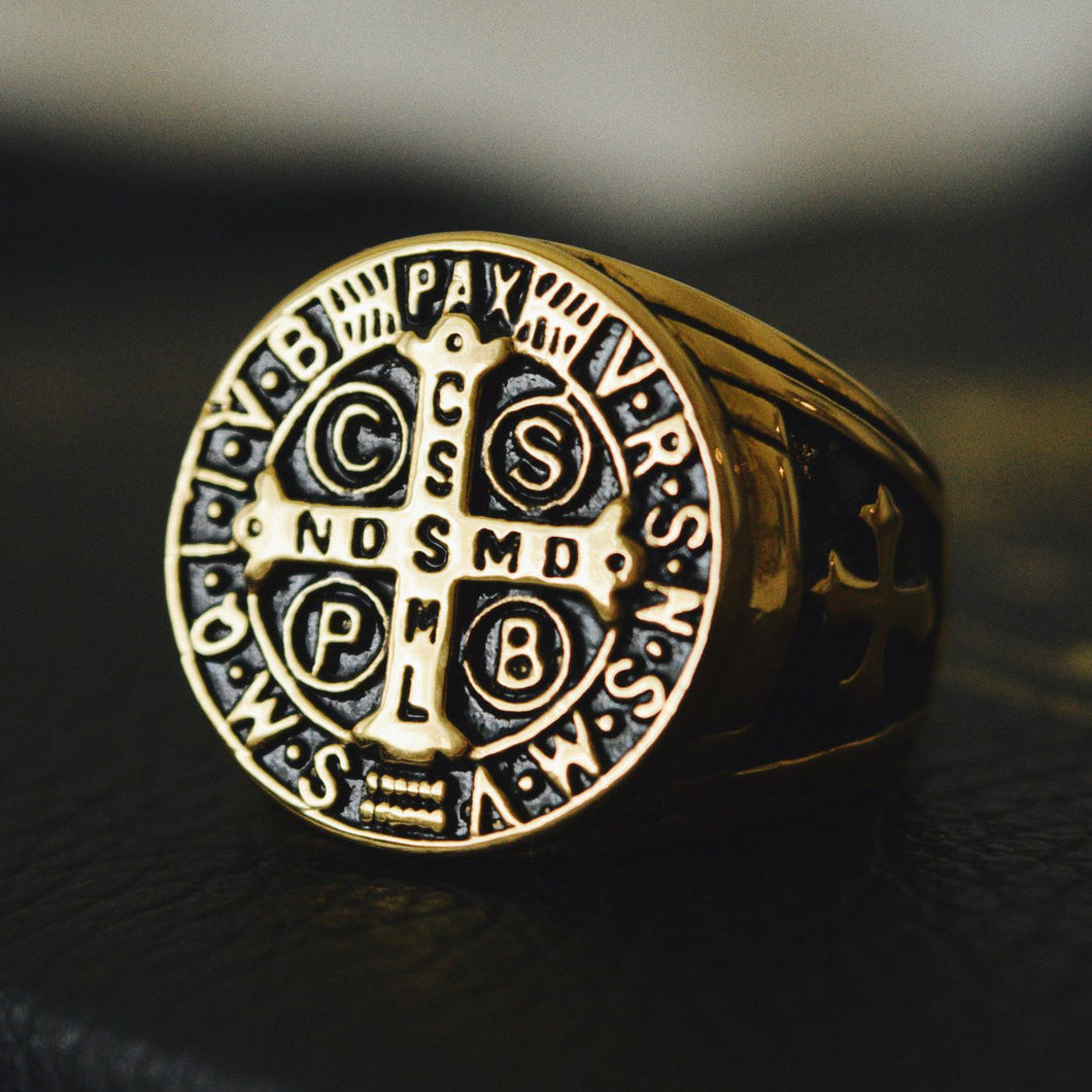 St. Benedict Men's Ring - Sanctus Supply Co.