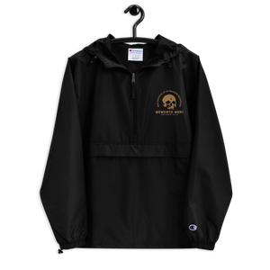 Memento Mori Embroidered Packable Jacket - Sanctus Supply Co.