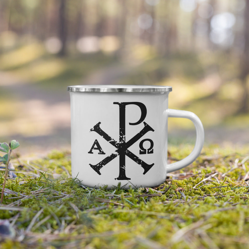 Chi Rho Enamel Mug - Sanctus Supply Co.