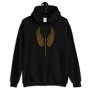 Angel of God Hooded Sweatshirt - Sanctus Fidelis