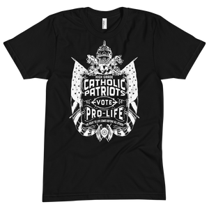 Catholic Patriots Vote Pre-Life (The Black & White Collection) - Sanctus Supply Co.
