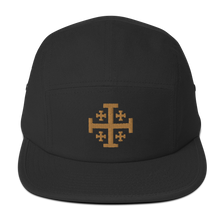Load image into Gallery viewer, Jerusalem Cross Five Panel Cap - Sanctus Supply Co.