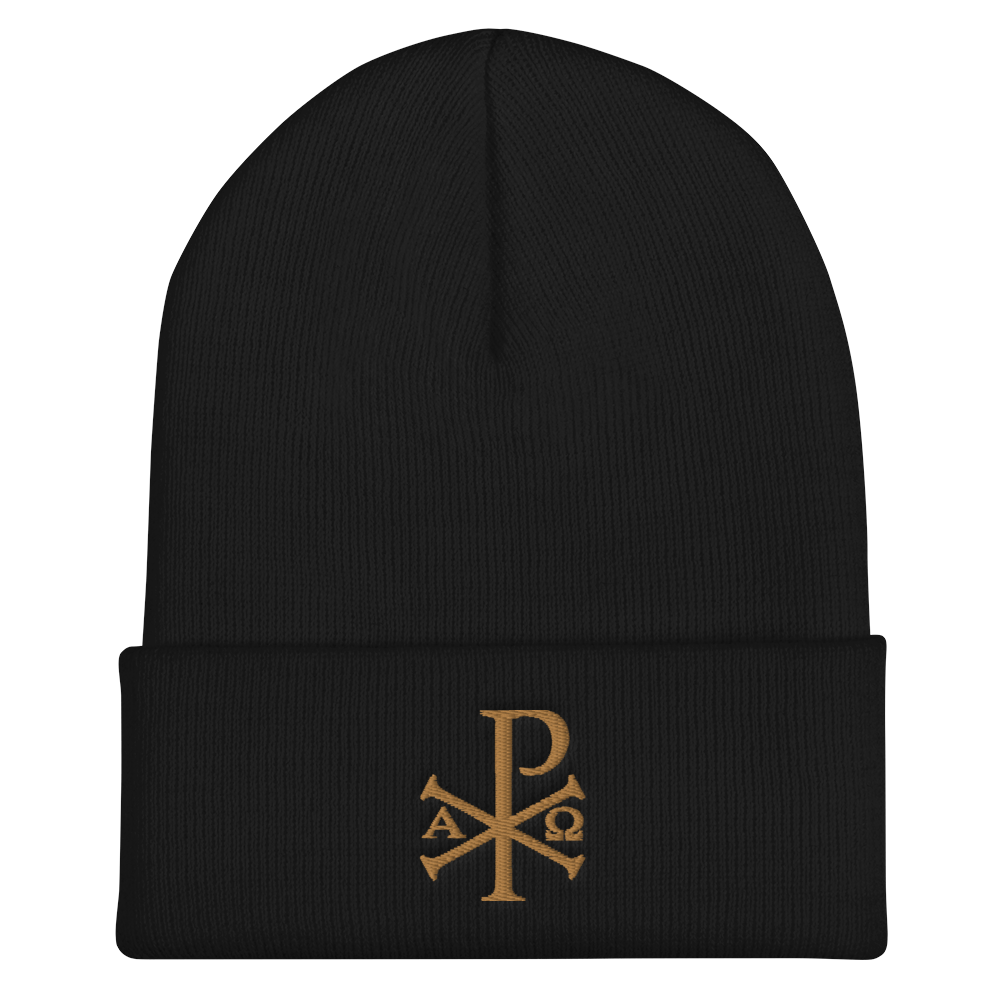 Chi Rho Cuffed Beanie - Sanctus Supply Co.
