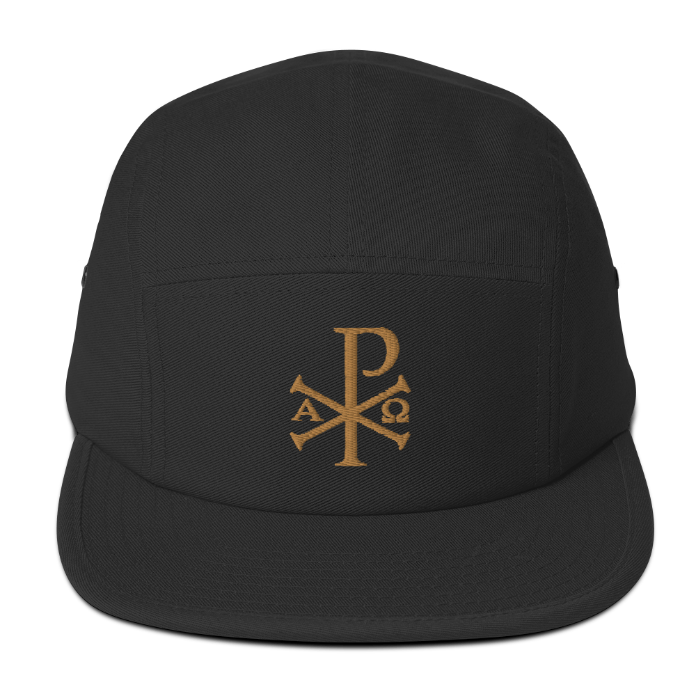 Chi Rho Five Panel Cap - Sanctus Fidelis
