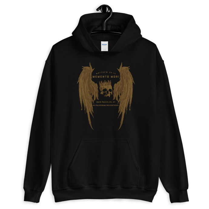 Memento Mori Hooded Sweatshirt - Sanctus Supply Co.