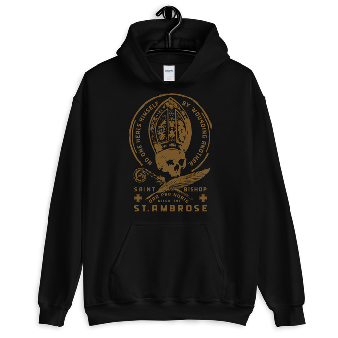 St. Ambrose Hoodie - Sanctus Supply Co.