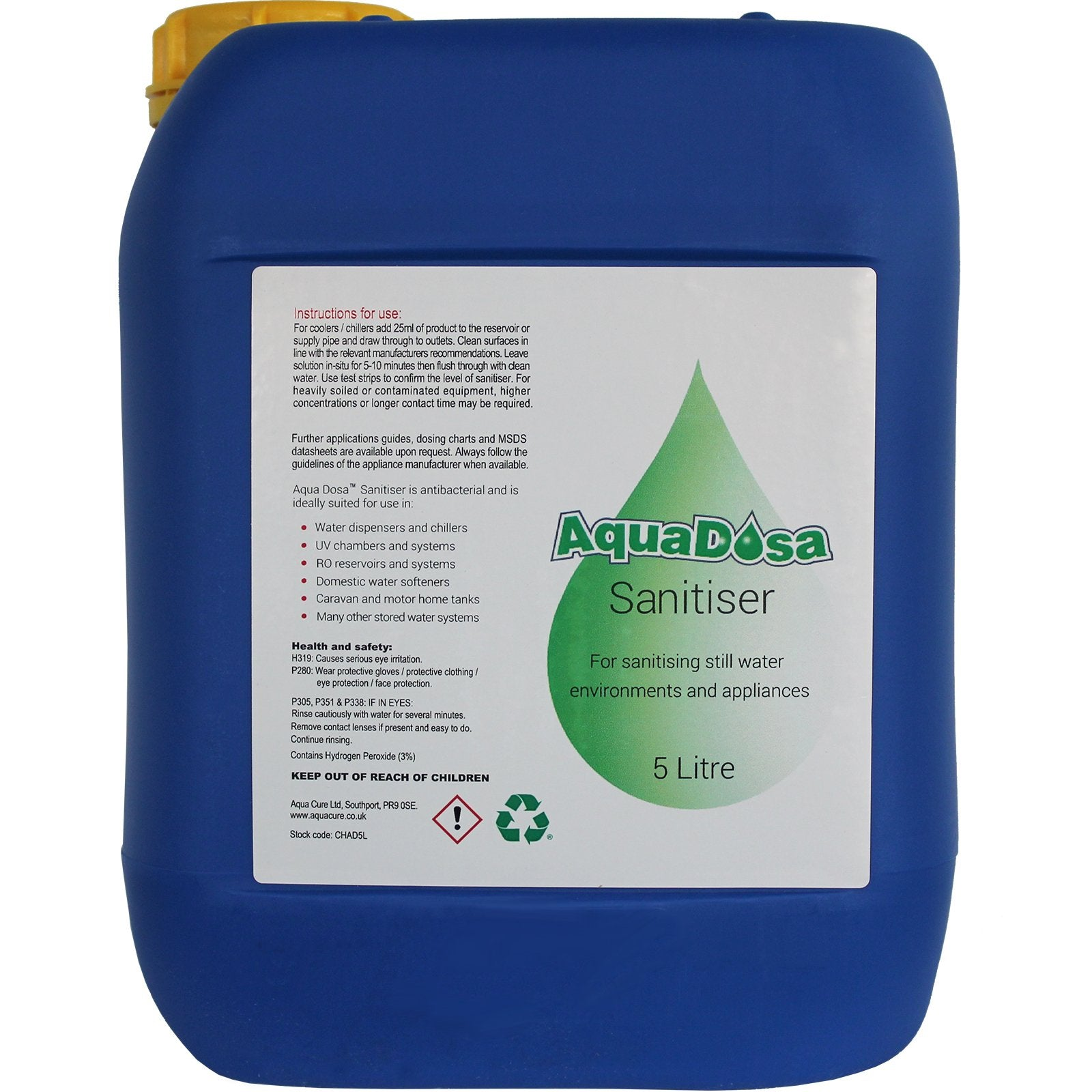 Aqua Dosa Internal Sanitiser (5 Ltr) (CHAD5L)