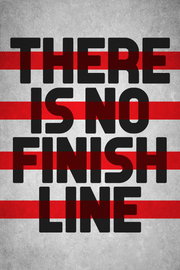 no finish line - red
