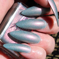 Bad B#tch - light blue with a pink shift holographic nail polish vegan