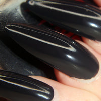 Black Dahlia - dark grey w/ a hint of purple creme polish