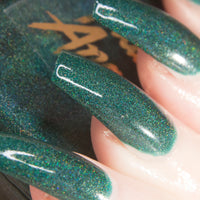 Clueless - dark teal superholographic nail polish vegan