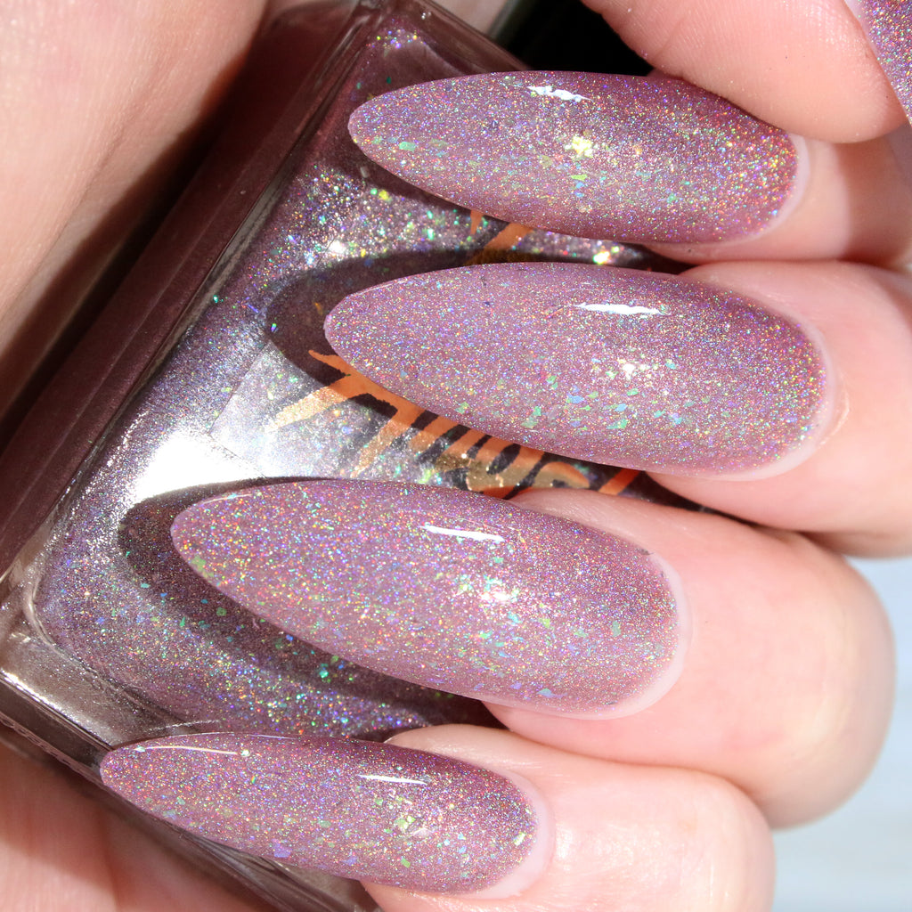 CryBaby - lilac purple w/ flakie glitter superholo nail polish vegan