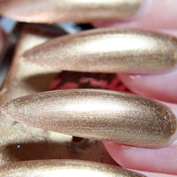 Dirty Chai - neutral gold shimmer nail polish vegan