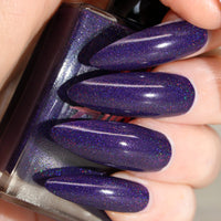 Eve - deep blue based purple super holographic vegan nail polish