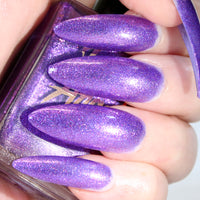 Fae - bright purple w/ pink glitter nail polish vegan