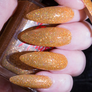 GhoulFriend - gold glitter with gold flakes nail polish vegan