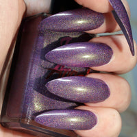 Gremlin - purple with green shine super holographic nail polish vegan