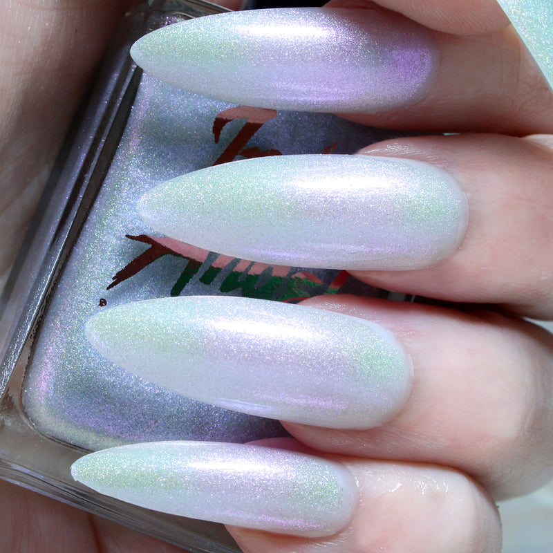 Ouija - purple glitter topper nail polish vegan