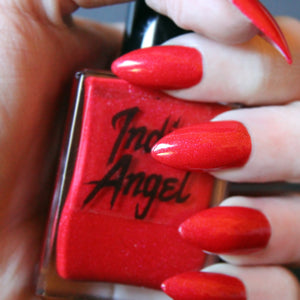 Candy Cane - red holiday shimmer nail polish vegan