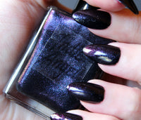 B*tchcraft - black halloween nail polish