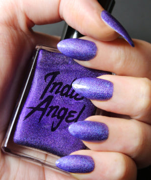 Kingship - Deep Purple Holographic Nail Polish Vegan