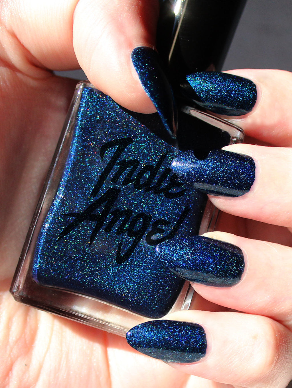 Knight - dark blue shimmer nail polish vegan