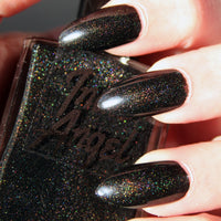 Witches Brew - Holographic Black Nail Polish Halloween Vegan