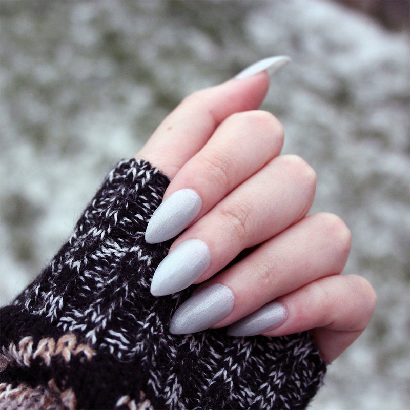 Snow Bunny - off white silver shimmer nail polish vegan