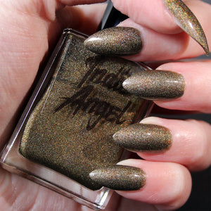 Creature - olive green holographic nail polish vegan