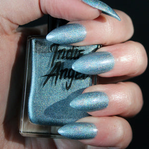 Rarity - light blue holographic nail polish vegan