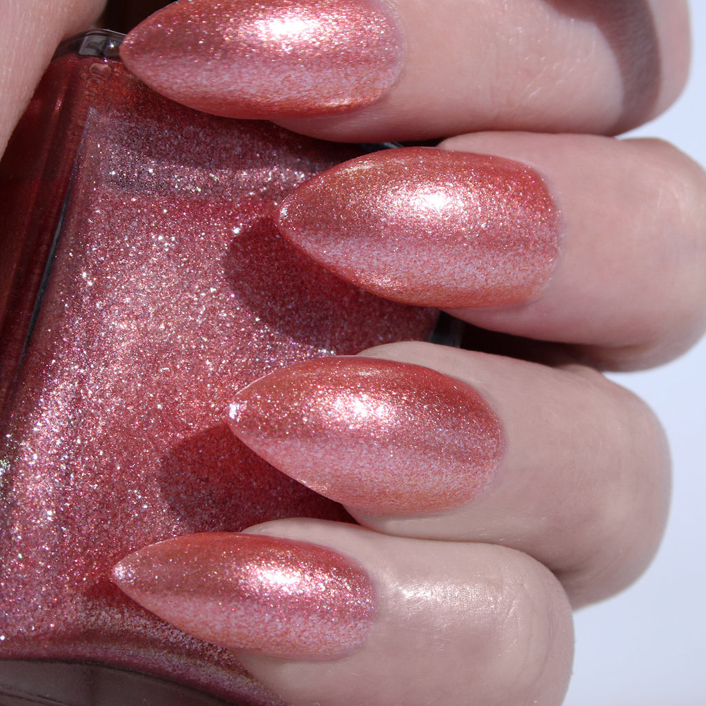 Rosé All Day - rose gold glitter nail polish vegan