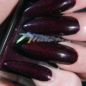 Blood Moon - dark wine shimmer nail polish vegan