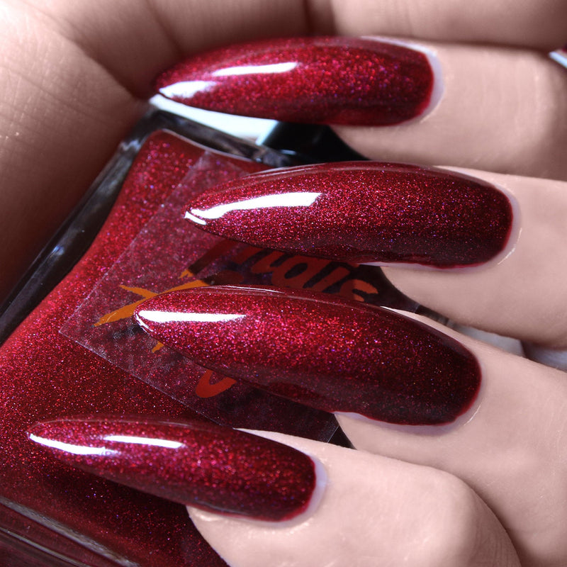 Rose Blood - dark red shimmer nail polish vegan