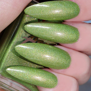 Goblin Tears - light green w/ a red shift shimmer nail polish vegan