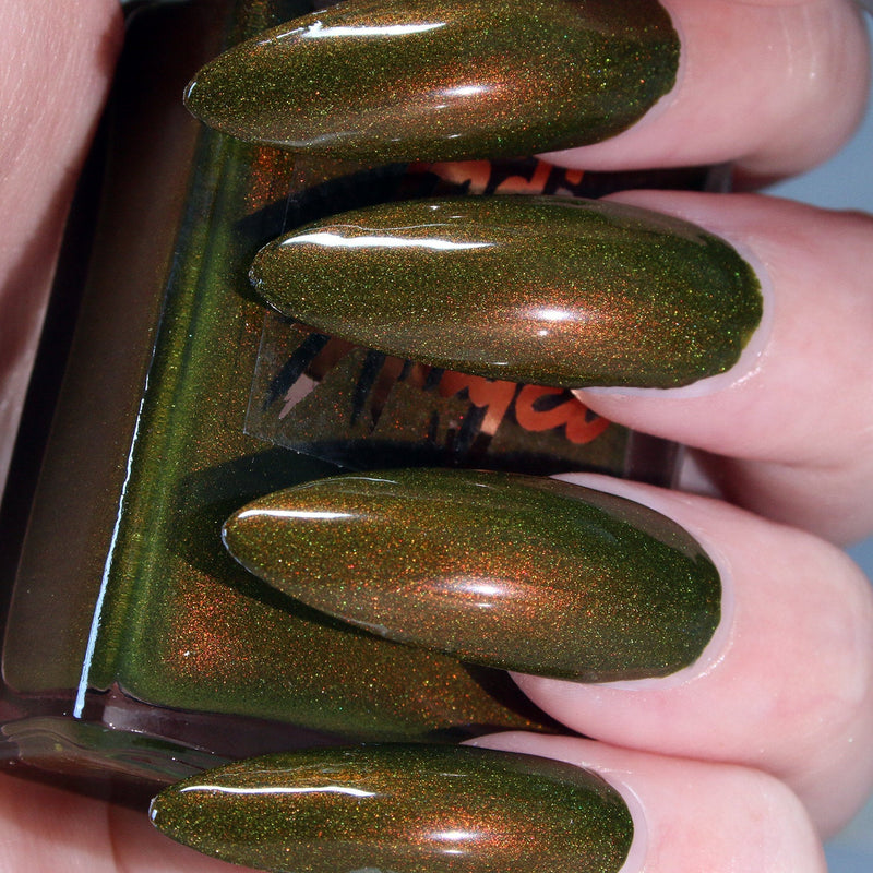 420 - green to red shift shimmer nail polish vegan