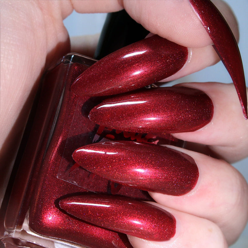 Sweet Satan - blood red shimmer nail polish vegan