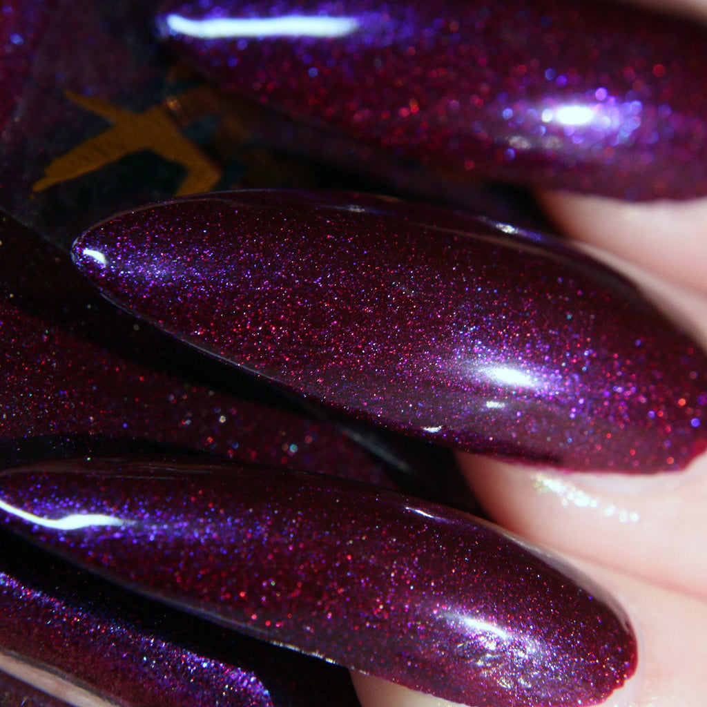 Angel Dust - purple w/ blue flash shimmer nail polish vegan