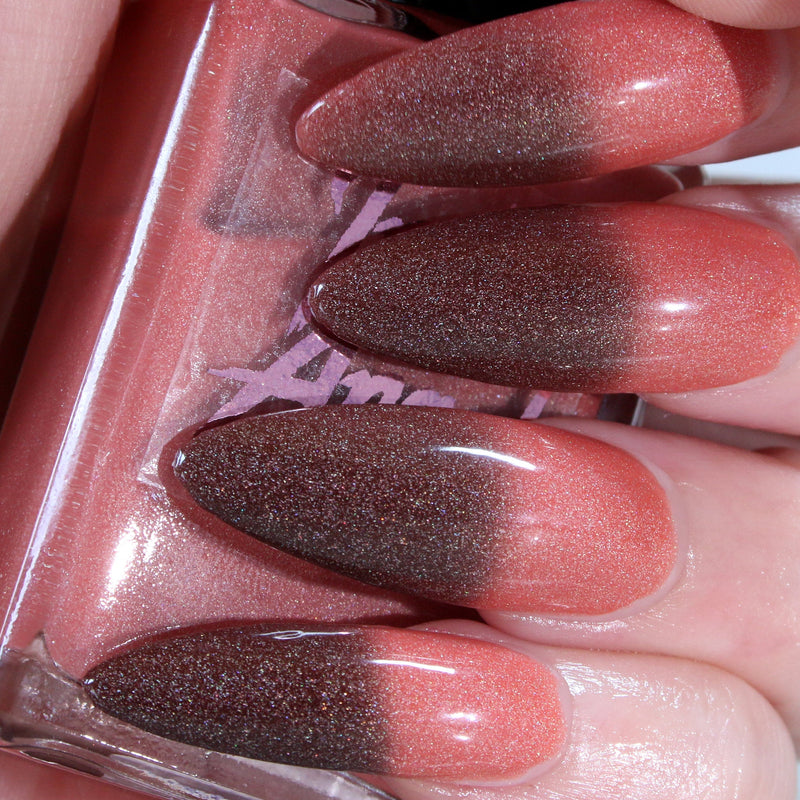 KillJoy - black to peach thermal nail polish vegan
