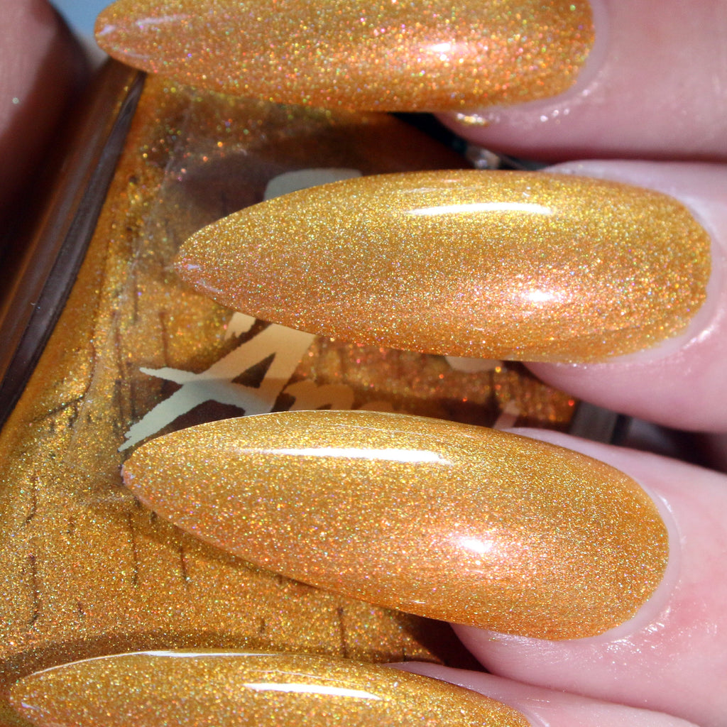 Faded - light tan gold shimmer nail polish vegan