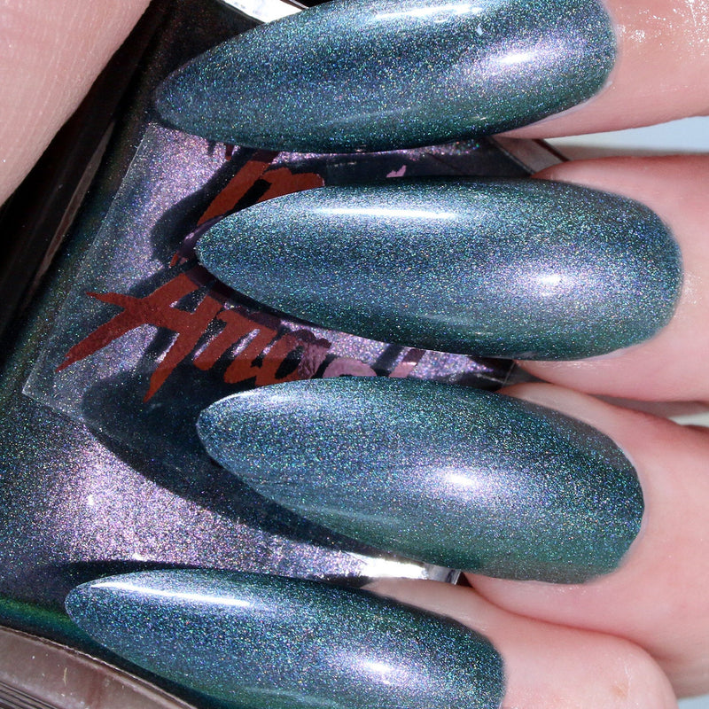 Acid Rain - blue to purple duochrome shimmer nail polish vegan
