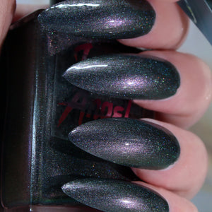 Area 53 - deepest green to purple duochrome shift shimmer nail polish vegan