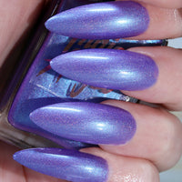 Hella - purple to blue duochrome shimmer nail polish vegan