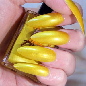 Sunny Dayz - bright yellow shimmer nail polish vegan