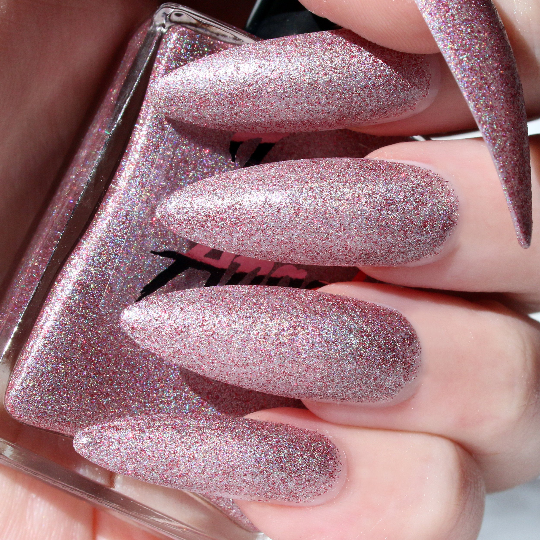 Arctic - holiday red glitter holographic nail polish vegan