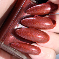 BurnOut - rusted red copper shimmer nail polish vegan