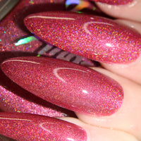 Lost Love - strawberry pink super holographic nail polish vegan