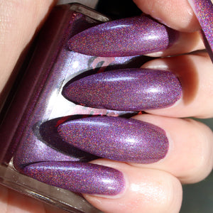 Mayor - muted purple glitter ultimate holo nail polish vegan