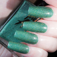 Mistletoe - light green superholo nail polish vegan